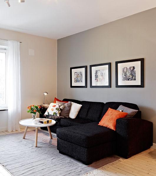 Sala de estar moderna como decorar - Decorar pared sofa ...