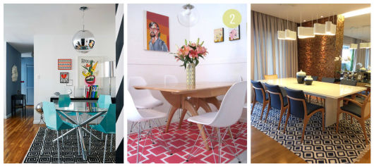 Tapete Indicado Para Sala De Jantar ~ 25 TAPETES para SALA DE JANTAR fotos e modelos Incríveis!