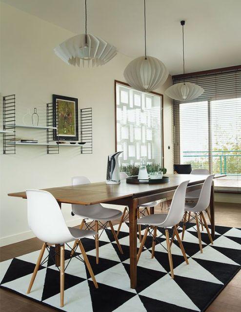 Tapete Sala De Jantar Mesa Redonda ~ mesa de madeira