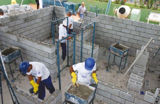 construção bloco concreto
