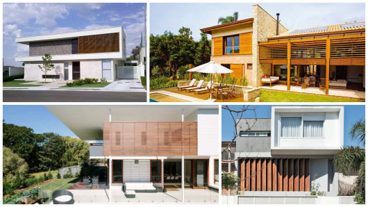 casas com brises de madeira