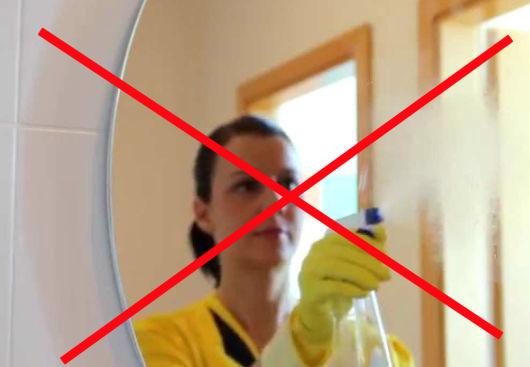 limpeza espelho