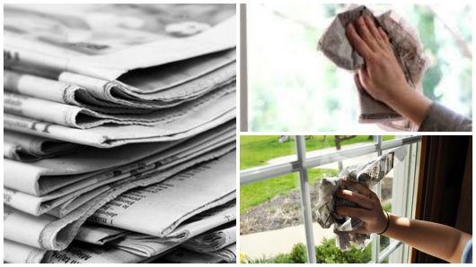 jornal para limpar