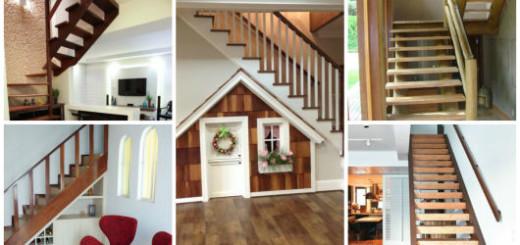 modelos escada madeira