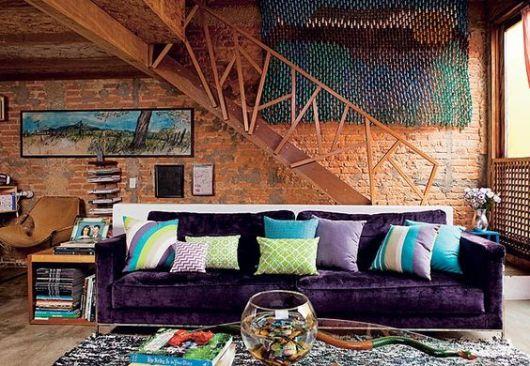 almofadas coloridas sofá