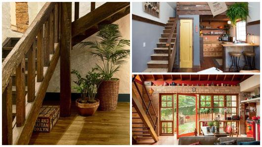 escadas rústicas