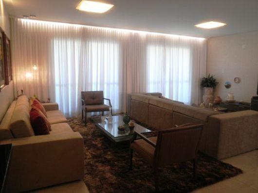 Sala De Tv Em Gesso ~ sala de estar com sala de TV