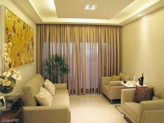 Sala De Estar De Gesso ~ iluminação indireta deixa a sala aconchegante
