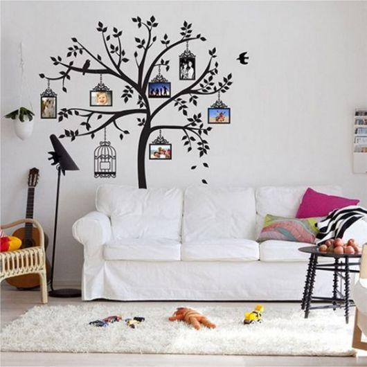 decoração com adesivo de parede