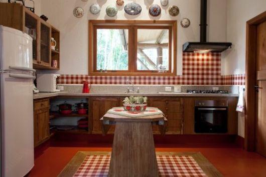 decoração cozinha rústica