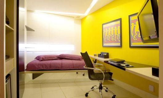 quarto de solteiro moderno e decorado