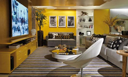 Sala De Estar Cinza E Amarelo ~ PAREDE AMARELA como decorar e onde usar!