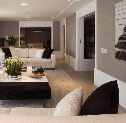 decoração sala de estar sofisticada