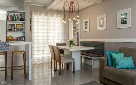 mesa de jantar com sofá