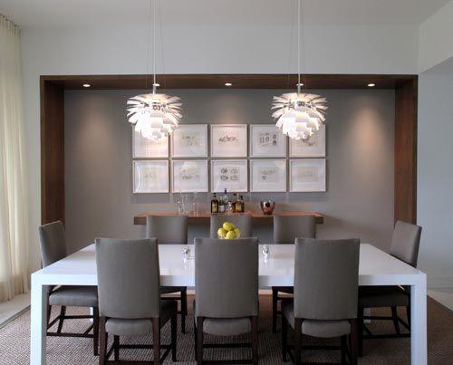 sala de jantar com barzinho