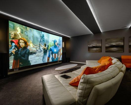 decoração home theater
