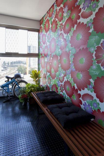 parede floral