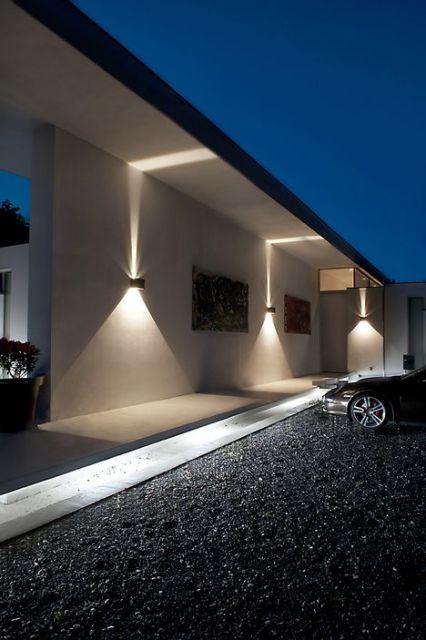 Arandelas externas modelos e inspira es de uso Iluminacion decorativa para exteriores