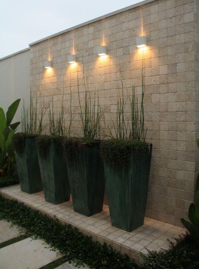 ideias jardins grandes : ideias jardins grandes:ARANDELAS EXTERNAS: modelos e inspirações de uso!