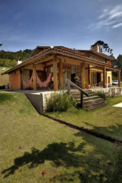 60 casas de campo projetos imperd veis modelos e plantas - Modelos de casas rusticas ...