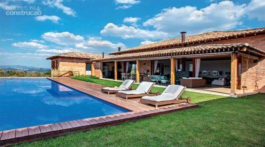 Casa de campo modelos projetos e plantas for Fotos de casas de campo con piscina