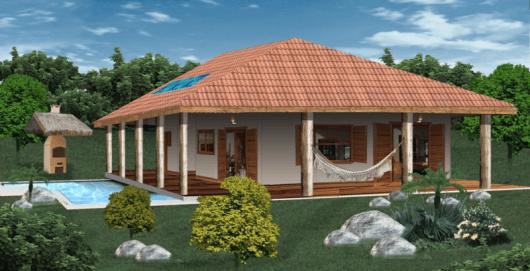 projeto casa com terraço