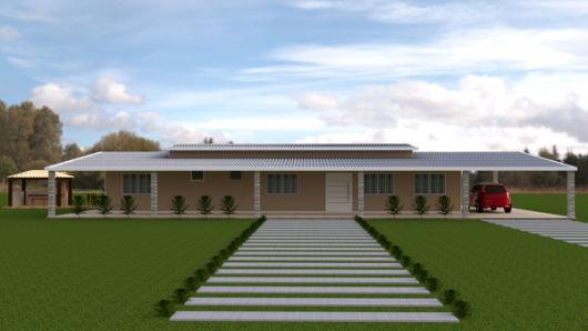 projeto casa com garagem