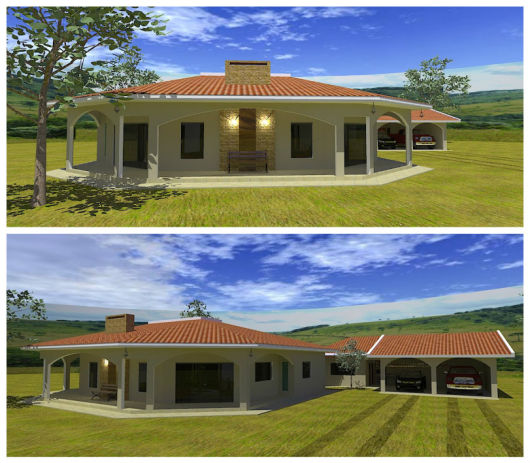 Casa de campo modelos projetos e plantas for Modelos de casas de campo de una planta