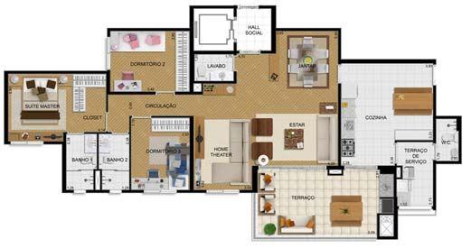 planta casa com terraço