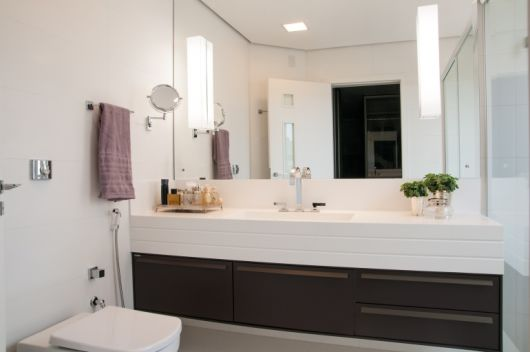 bancada decorada banheiro