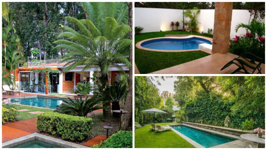 piscinas com jardim