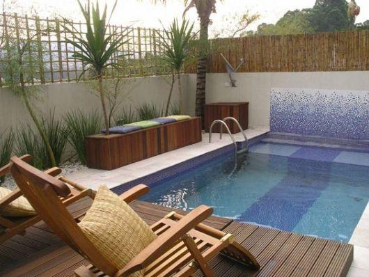 Decora o de piscina dicas de como fazer Fotos piscinas para espacios pequenos