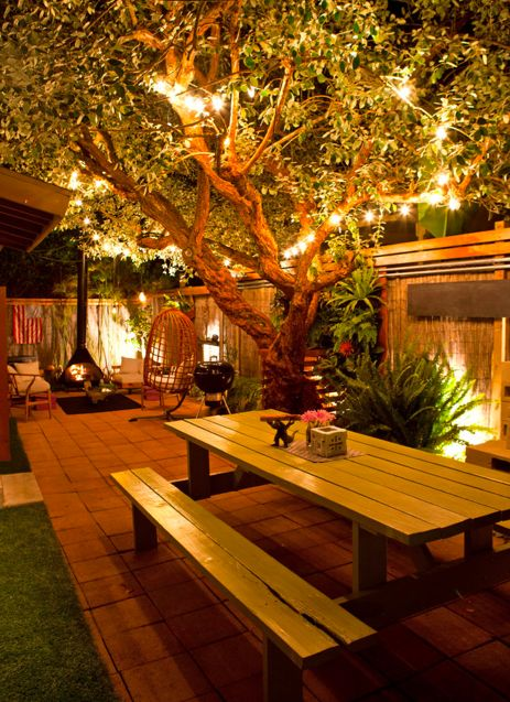 iluminacao de jardim tipos:Outdoor Backyard Lighting Ideas