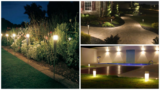 iluminacao jardim poste:iluminação com postes