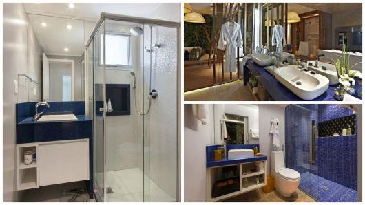 banheiro bancada azul
