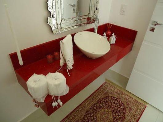lavabo com tapete