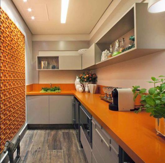 cozinha alaranjada