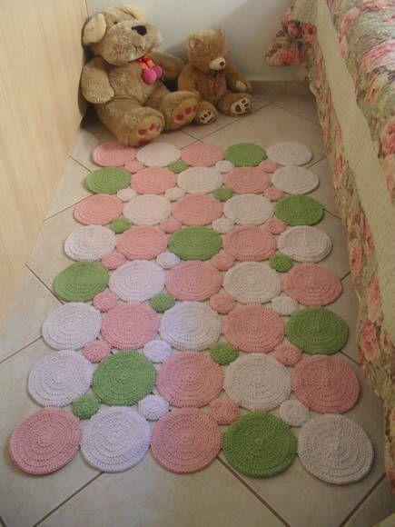 Tapete de Crochê Barbante 80 Modelos Incríveis e Como Fazer! ~ Tapetes Para Quarto Infantil Em Croche