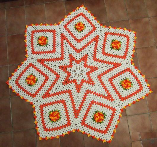 estrela com flores