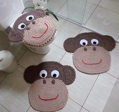 kit banheiro macaco
