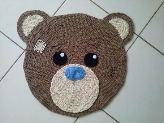 Tapete de Crochê ? Lindos Modelos Exclusivos de Barbante  ~ Tapetes Para Quarto Infantil Em Croche