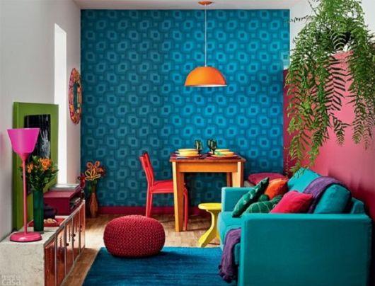 Sala bem colorida