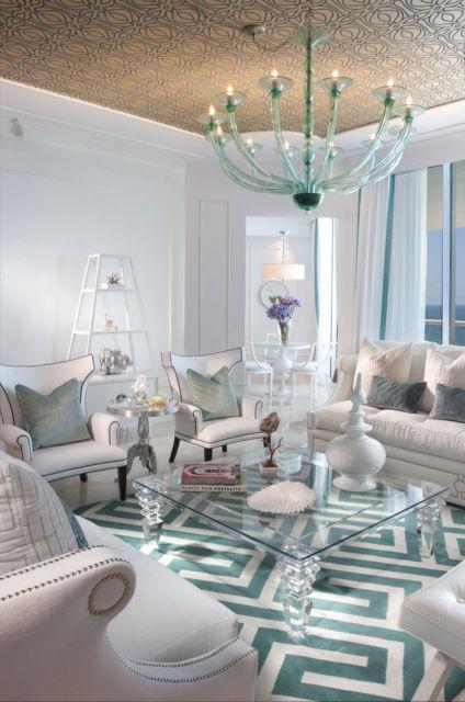 Salas modernas cores claras