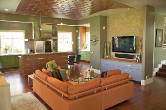 Salas modernas e cozinha