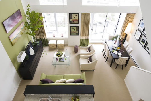 Salas modernas integração de ambientes