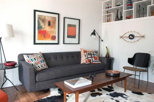 Salas modernas pequena e simples