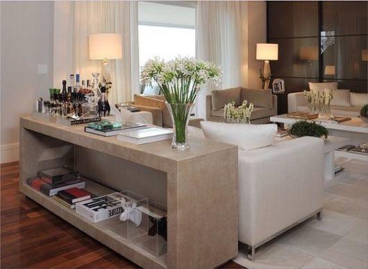 Aparador Quadrado Mdf Cru ~ Aparador de sofá como usar e 25 ideias para a decoraç u00e3o!