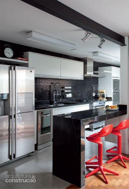 cozinha moderna preta