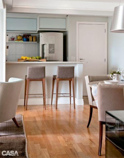 60 Tipos Banquetas para Cozinha  Americana, Bar e Mais! # Bancada Para Cozinha Onde Comprar