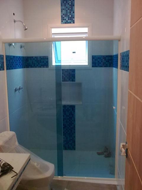 Box para banheiro modelos, preços e dicas! -> Banheiros Com Pastilhas Apenas No Box
